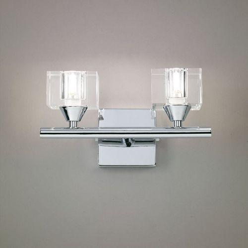 Kinkiet cuadrax 2l chrom, szkło optyczne, 0963 marki Mantra