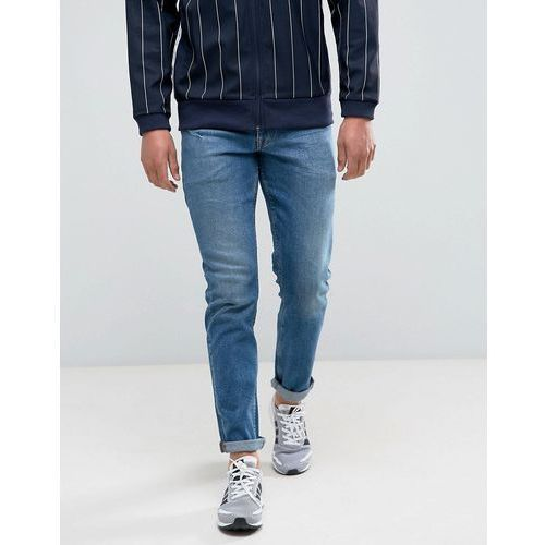 ASOS Stretch Slim Jeans In Mid Wash Blue - Blue, jeans