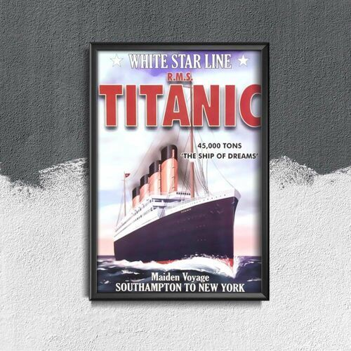Plakaty w stylu retro Plakaty w stylu retro Titanic Southampton do Nowego Jorku