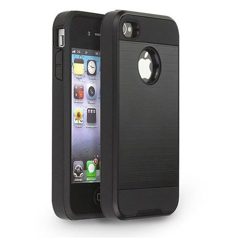 Tech-protect  hybrid armor black | obudowa ochronna dla modelu apple iphone 4 / 4s - black