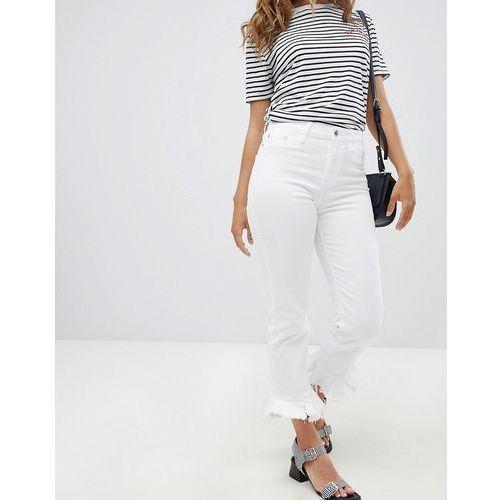 River Island Frill Hem Skinny Jeans - White, skinny