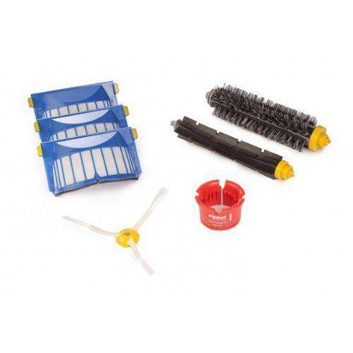 zestaw: 3 filtry aerovac, wirująca szczotka boczna, narzędzie czyszcące, szczotka główna i gumowa - do urządzenia roomba serii 600 marki Irobot