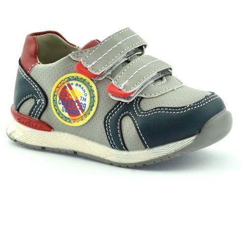 Dziecięce buty sportowe American Club 5318-03 - Szary ||Granatowy, kolor szary