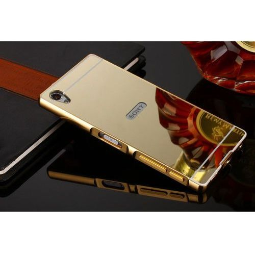 Mirror Bumper Metal Case Złoty | Etui dla Sony Xperia M5 - Złoty - sprawdź w wybranym sklepie