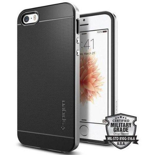 Obudowa spigen neo hybrid carbon apple iphone 5 / 5s / se satin silver - satin silver marki Sgp - spigen