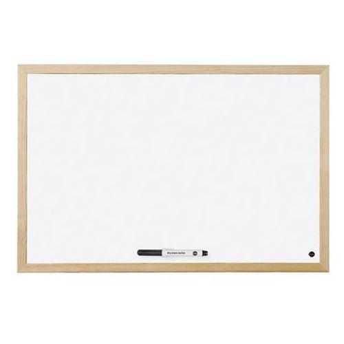 Tablica suchościeralna BI-OFFICE magnetyczna lakierowana w ramie drewnianej 900x600
