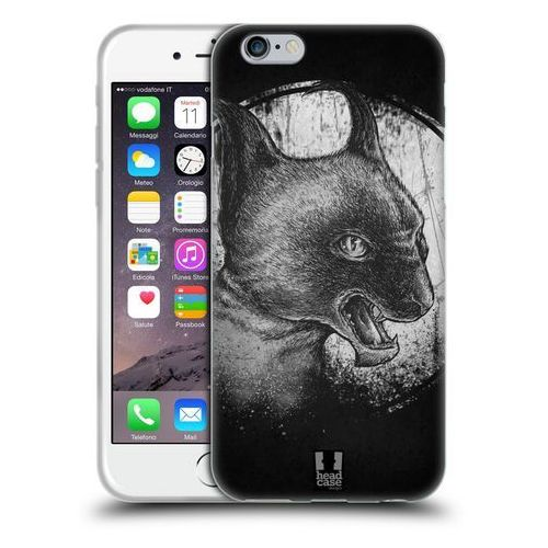 Etui silikonowe na telefon - cats of goth black and grey marki Head case