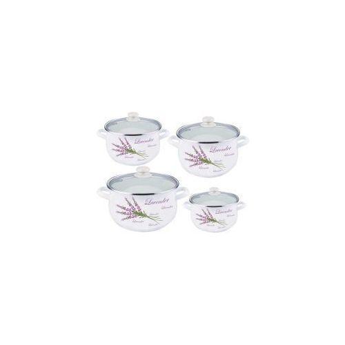Tadar Komplet garnków emaliowanych 8 elem. lavender