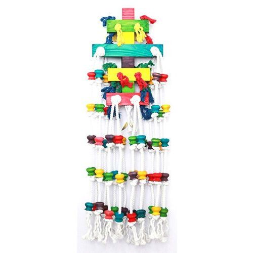 Duża zabawka dla ptaków raindrop happypet - 100 cm. marki Hp birds