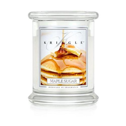 Maple sugar świeca zapachowa  cukier klonowy średni słoik 16oz, 454g, 2 knoty marki Kringle candle