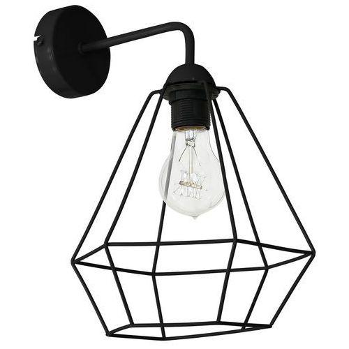 Luminex Kinkiet lampa ścienna alma 1x60w e27 czarna 8966 (5907565989663)
