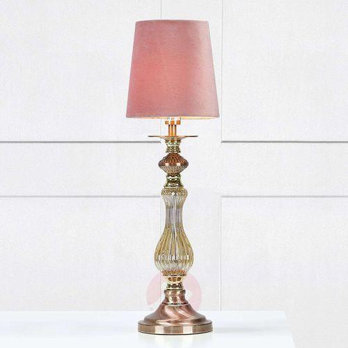 Klasyczna LAMPA stołowa HERITAGE 106990 Markslojd abażurowa LAMPKA biurkowa różowy, 106990