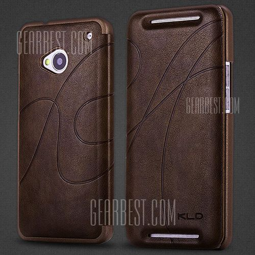 Gearbest Kalaideng pu leather and pc protective case with curve design for htc new one m7