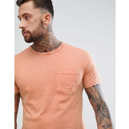 Another Influence Oversized Washed Pocket T-Shirt - Brown