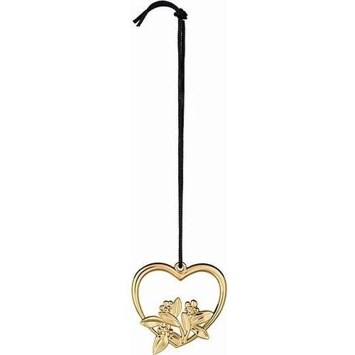 Rosendahl Dekoracja choinkowa karen blixen heart flower 12 cm złota (5709513323129)