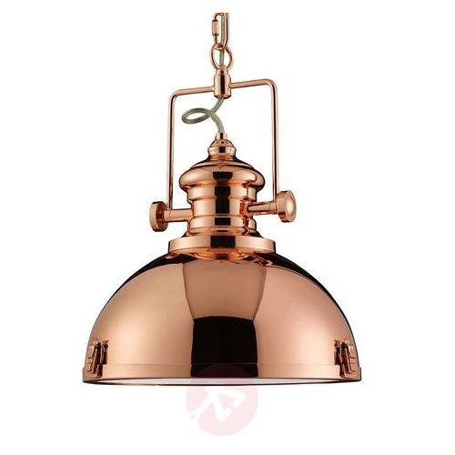 Lampa wisząca metal industrialna kolor miedzi marki Searchlight