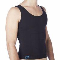 Koszulka modelująca wyszczuplająca męska z nanosrebrem - biała, czarna - prod. beautysan, Czsalus (włochy)