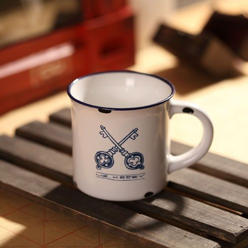 Porcelanowy mini kubek retro - keys - keys marki Gadget master