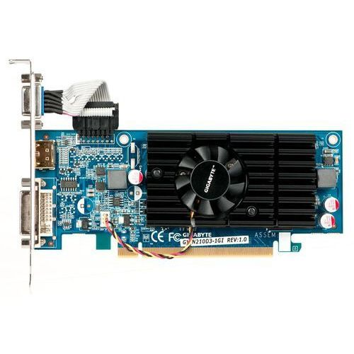 Karta graficzna Gigabyte GeForce® 210 1024MB DDR3/64bit DVI/HDMI PCI-E (590/1200) GV-N210D3-1GI 6.1 - odbiór w 2000 punktach - Salony, Paczkomaty, Stacje Orlen (4719331338282)