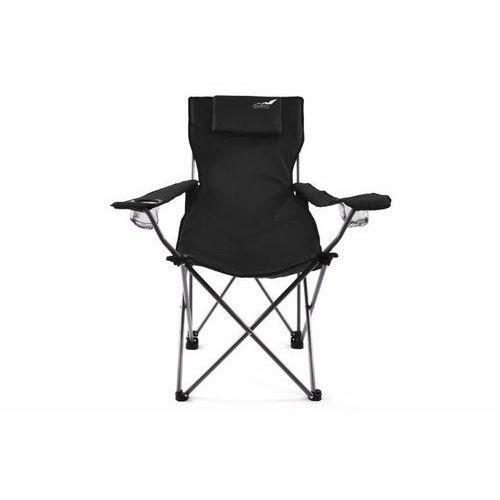 Krzesło turystyczne - wędkarskie składane, czarny