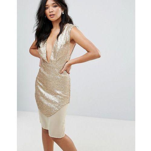 Glamorous Metallic Dress - Cream, kolor zielony