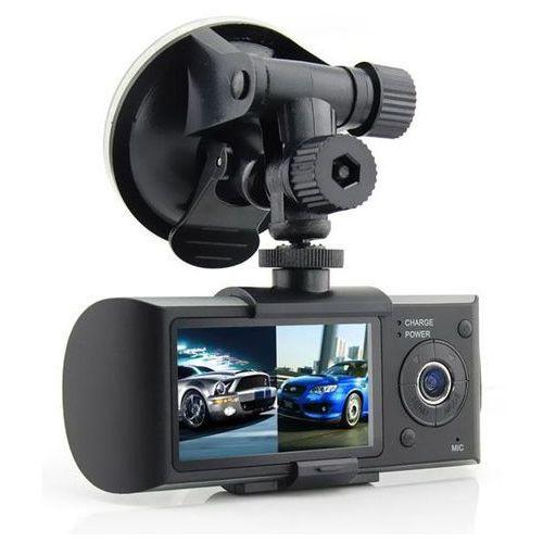 Kamera samochodowa Rejestrator HD R300 - 2 obiektywy, GPS
