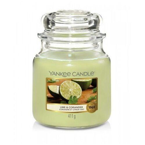 Yankee candle Smakeup.pl świeca zapachowa średni słój lime & coriander 411g