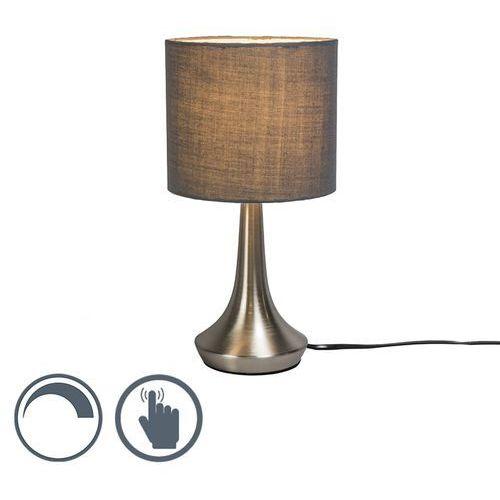 Lampa stołowa milo 1 okrągła szara marki Qazqa