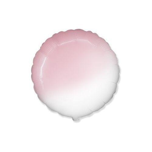 Balon foliowy okrągły ombre różowy - 46 cm - 1 szt. marki Flexmetal balloons