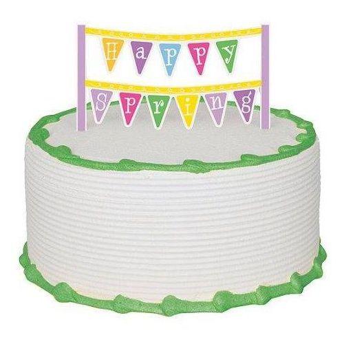 Baner na tort Happy Spring - 1 szt.