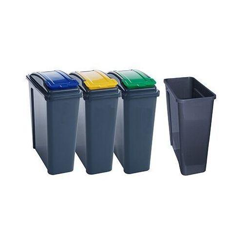 Kosz na śmieci PANTA PLAST 25l. x 3 do segregacji