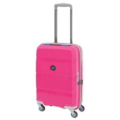 Bg berlin zip2 walizka mała kabinowa antywłamaniowa 20/55 cm / pop pink - pop pink (6906053058767)