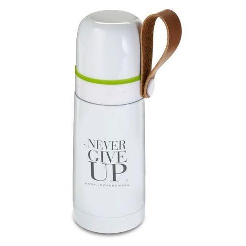 Healthy Plan by Ann - Termos stalowy biały Never Give Up pojemność: 350 ml