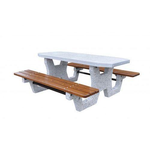 Eco-market.pl Betonowy stół parkingowy z blatem z betonu szlifowanego