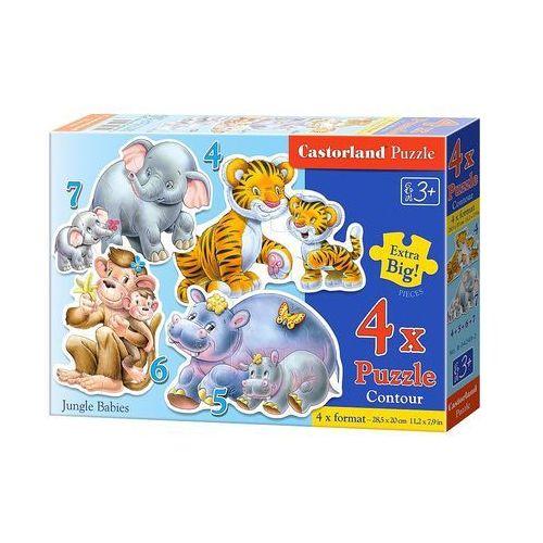 Castor 4x1 puzzle konturowe jungle babies (5904438004249)