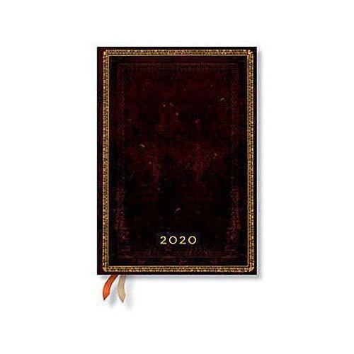 Paperblanks Kalendarz 2020 książkowy midi horizontal black moroccan 12m