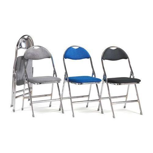 Krzesło składane Renfrew tkanina czarny chrom, 135341
