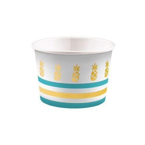 Pucharki kubeczki do lodów Ananasy - 270 ml - 8 szt. (0013051828585)