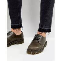 Dr Martens 1461 3-Eye Shoes In Dark Taupe - Brown