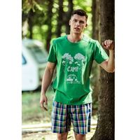Key Piżama mns 799 a8 xl, zielony-kratka, key
