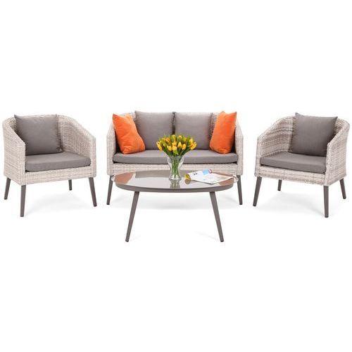 Home&garden Zestaw mebli z technorattanu stół, krzesła, kanapa palermo