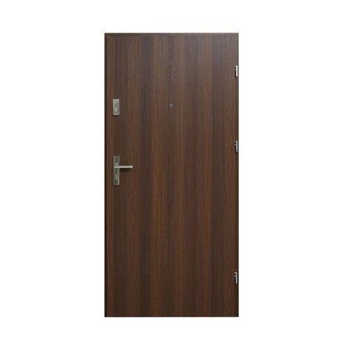 Drzwi wejściowe HEKTOR 32 Orzech premium 80 Prawe DOMIDOR