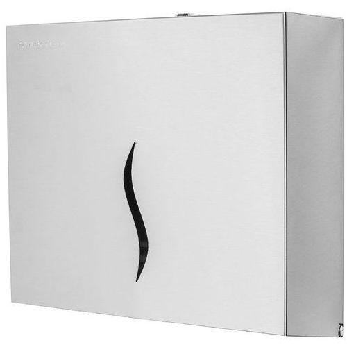 Pojemnik na ręczniki papierowe składane HIT M Faneco stal szlachetna matowa (5901764292302)