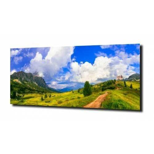 obraz na szkle, panel szklany Alpejski raj 120X60