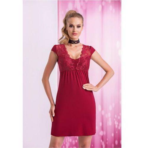 Koszula Nocna Model Taylor Bordo, kolor czerwony