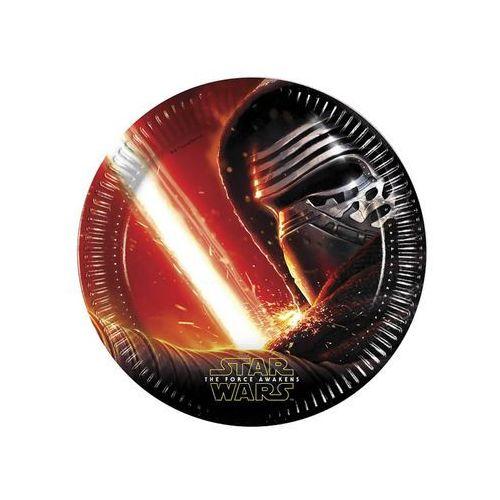 Talerzyki urodzinowe star wars - the force awakens - 23 cm - 8 szt. marki Procos disney