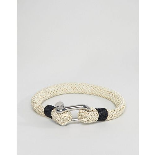 woven bracelet in cream - white marki Seven london