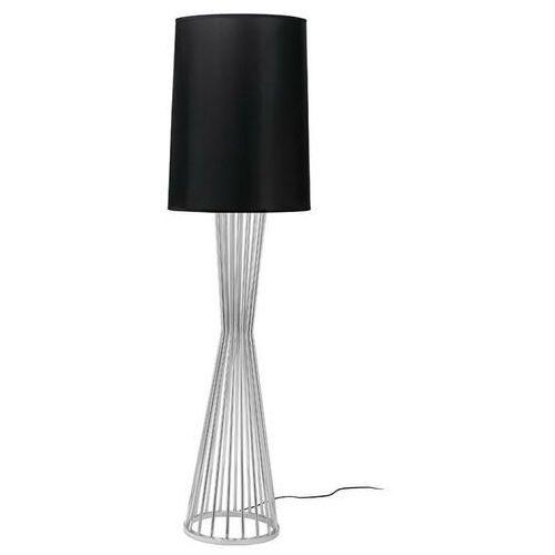Sofa.pl Lampa podłogowa holmes chrom z czarnym kloszem - metal