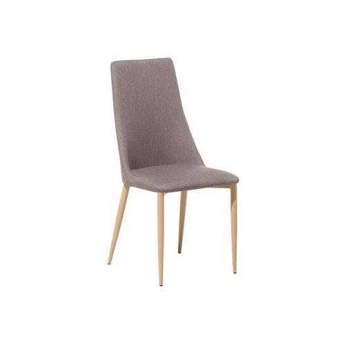 Beliani Krzesło do jadalni jasnobrązowe clayton
