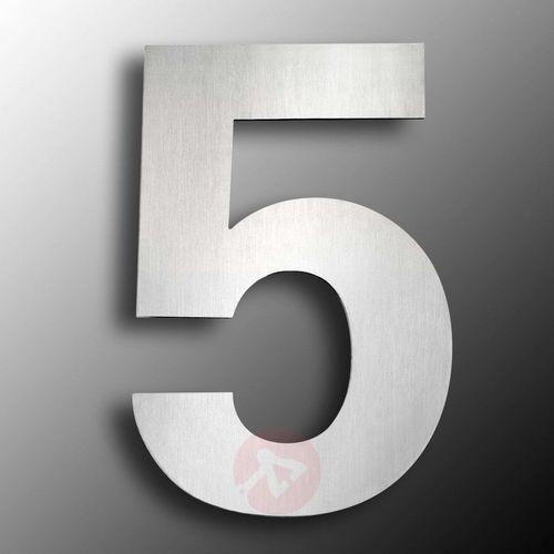 Numer domu stal szlachetna duży 5 marki Cmd